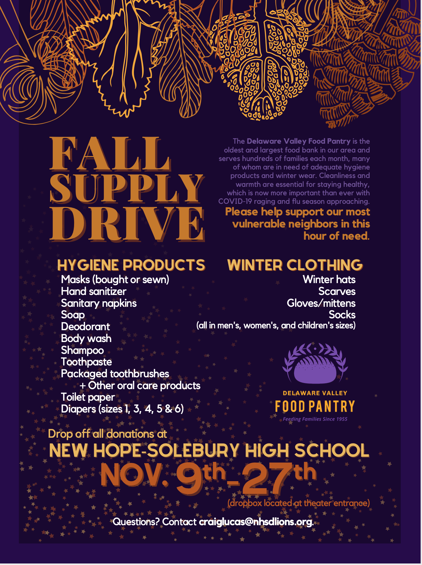 Fall Supply Drive